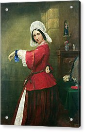 Lady In French Costume Acrylic Print by Edmund Harris Harden