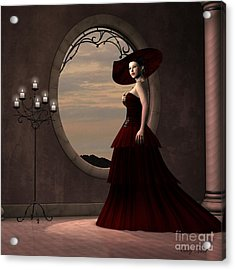 Lady In Red Dress Acrylic Print by Corey Ford