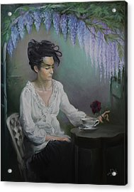 Lady In Waiting Acrylic Print by Liz Viztes