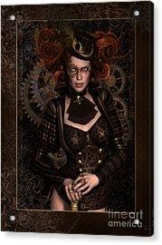 Lady Steampunk Acrylic Print by Shanina Conway