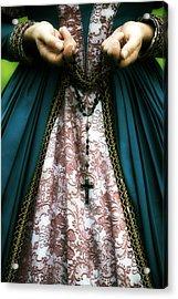 Lady With Rosary Acrylic Print by Joana Kruse