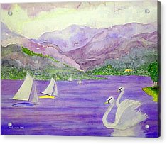 Lake Annecy France Acrylic Print by Fred Jinkins