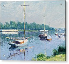 Lake Argenteuil Acrylic Print by Gustave Caillebotte