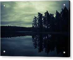 Lake By Night Acrylic Print by Nicklas Gustafsson