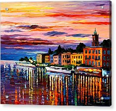 Lake Como - Bellagio  Acrylic Print by Leonid Afremov