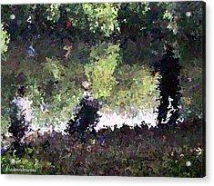 Lake Fishing Impressionist Painting Acrylic Print by Dawn Hay