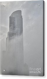 Lake Fog Acrylic Print by David Bearden