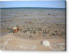 Lake Huron Acrylic Print by Frank Romeo