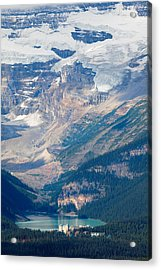 Lake Louise With The Victoria Glacier Acrylic Print by George Oze