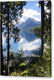 Lake Mcdlonald Through The Trees Glacier National Park Acrylic Print by Marty Koch