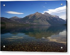 Lake Mcdonald Reflection Glacier National Park 2 Acrylic Print by Marty Koch