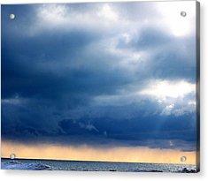 Lake Michigan Sky Acrylic Print by Andrew Jagniecki
