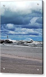 Lake Michigan With Big Wind  Acrylic Print by Michelle Calkins