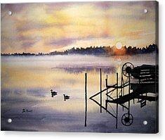 Lake Mist Acrylic Print by Shirley Braithwaite Hunt