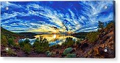 Lake Pleasant Sunset 3 Acrylic Print by ABeautifulSky Photography