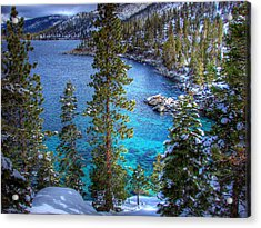 Lake Tahoe Winterscape Acrylic Print by Scott McGuire