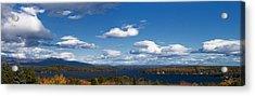 Lake Winnipesaukee New Hampshire In Autumn Acrylic Print by Stephanie McDowell