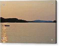 Lake Winnipesaukee Row Boat Sunset Acrylic Print by Toby McGuire