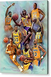Lakers Legends Acrylic Print by Blackwater Studio