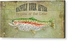Lakeside Lodge - Happily Ever After Acrylic Print by Audrey Jeanne Roberts