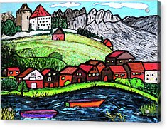Lakeside View Acrylic Print by Monica Engeler