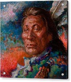 Lakota Man Acrylic Print by Ellen Dreibelbis