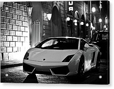 Lambo Noir Acrylic Print by Patrick English