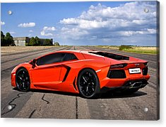 Lambo Runway Acrylic Print by Peter Chilelli