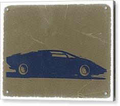 Lamborghini Countach Acrylic Print by Naxart Studio