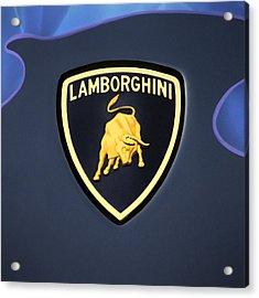 Lamborghini Emblem Acrylic Print by Mike McGlothlen