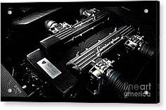 Lamborghini Engine Acrylic Print by Marvin Blaine