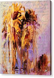 Lament Of Sunflowers Acrylic Print by Georgiana Romanovna