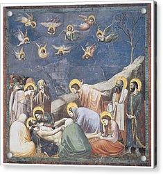 Lamentation Acrylic Print by Giotto Di Bondone