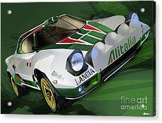 Lancia Stratos Hf Rally Car Acrylic Print by Uli Gonzalez