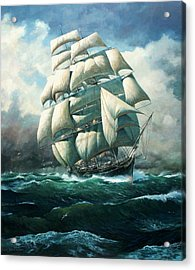 'land Ho' Cutty Sark Acrylic Print by Colin Parker