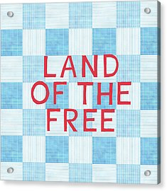 Land Of The Free Acrylic Print by Linda Woods