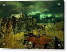 Land Rover Acrylic Print by Jeff Burgess