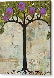 Landscape Art Tree Painting Past Visions Acrylic Print by Blenda Studio