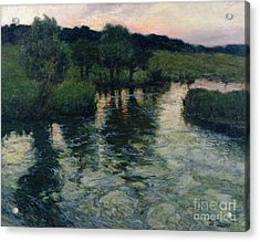 Landscape With A River Acrylic Print by Fritz Thaulow