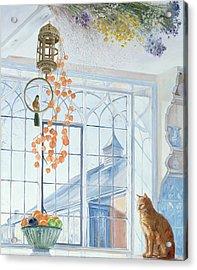 Lanterns Acrylic Print by Timothy Easton
