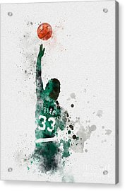 Larry Bird Acrylic Print by Rebecca Jenkins