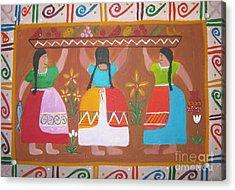 Las Comadres Acrylic Print by Sonia Flores Ruiz