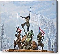Las Raices Fountain Acrylic Print by Frank Feliciano