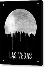 Las Vegas Skyline Black Acrylic Print by Naxart Studio