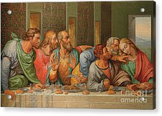 Last Supper Acrylic Print by Giacomo Raffaelli