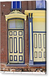 Late 1800s Door Acrylic Print by Marilyn Hunt
