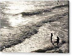 Late Afternoon Long Beach Acrylic Print by Linda Queally