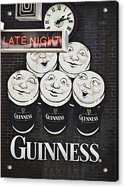 Late Night Guinness Limerick Ireland Acrylic Print by Teresa Mucha