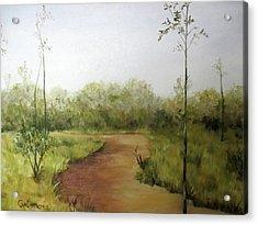 Late Summer Walk Acrylic Print by Roseann Gilmore