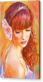 Latina Beauty Acrylic Print by Jane Schnetlage